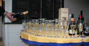 Champagne for the first course - Photo Alex Kaliakin