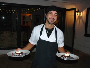Sous Chef Elio Serving Dessert - Photo Alex Kaliakin