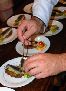 Plating Sardines - Photo Alex Kaliakin