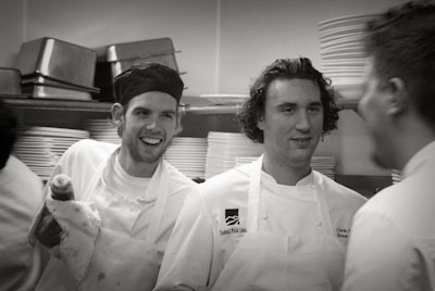 """Goose"", Sous Chef Chris Kufek and Chef Adam Horton In between courses."
