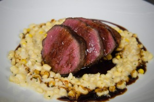Wagyu Beef with a creamed corn