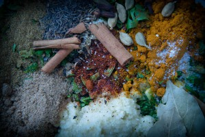 The dry spices for the biryani